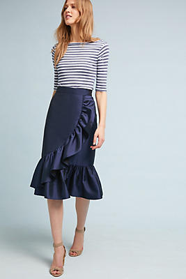 Slide View: 1: Florence Satin Skirt