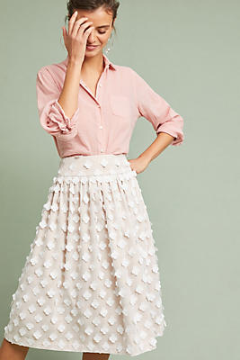 Slide View: 1: Textured Tulle Skirt