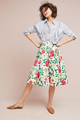 Slide View: 3: Myrna Floral Skirt