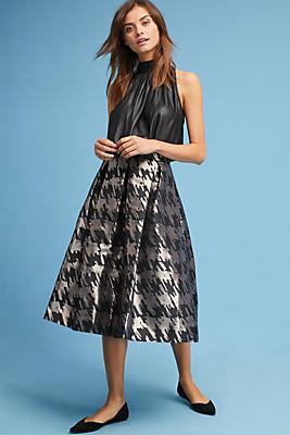 Slide View: 1: Jacquard Houndstooth Skirt