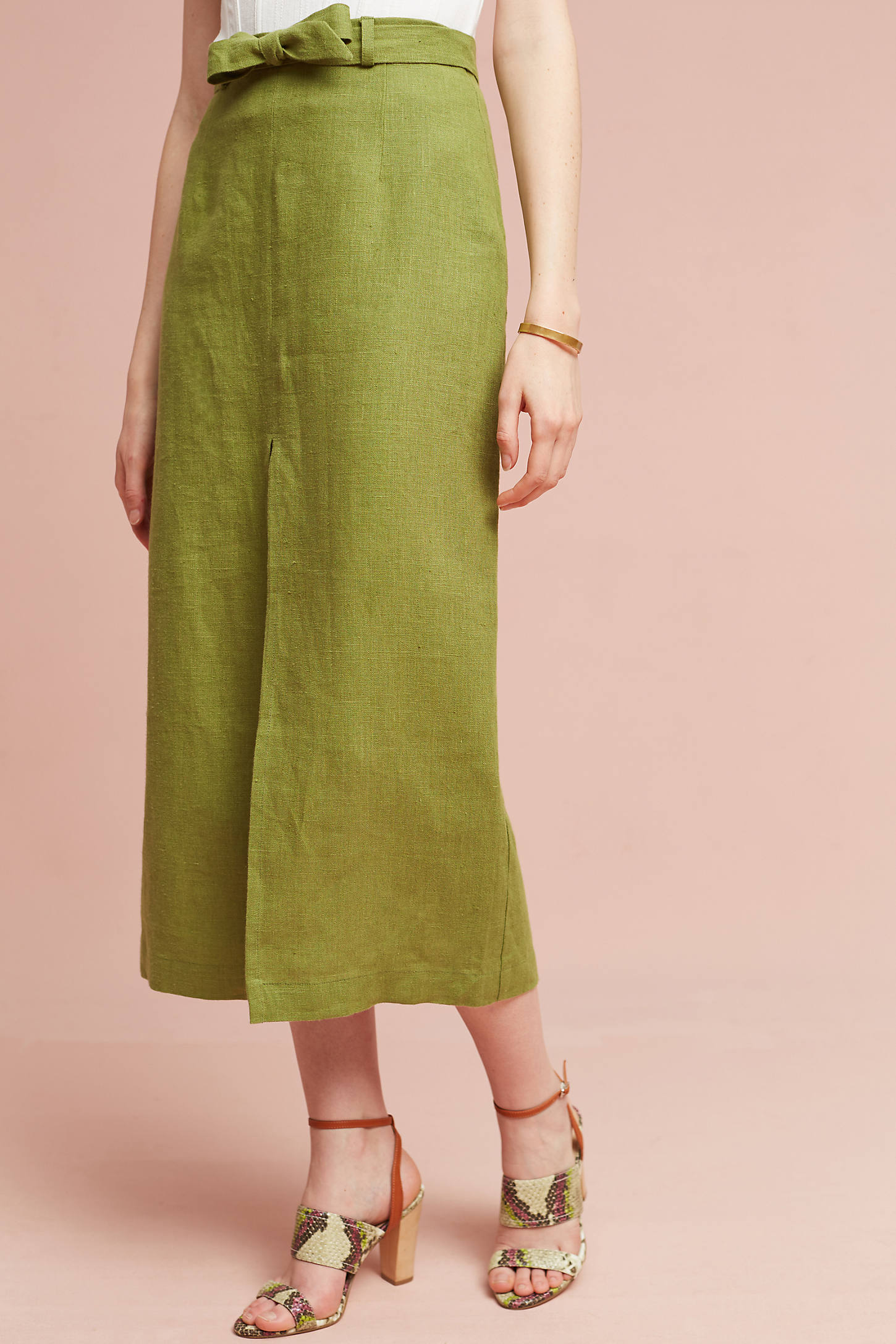 Sliced Linen Skirt