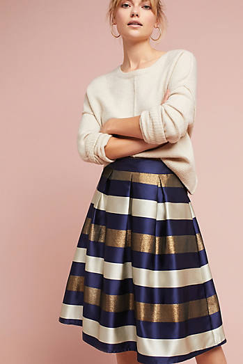Striped In Shine Skirt