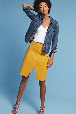 Slide View: 1: Sunbeam Frayed Skirt