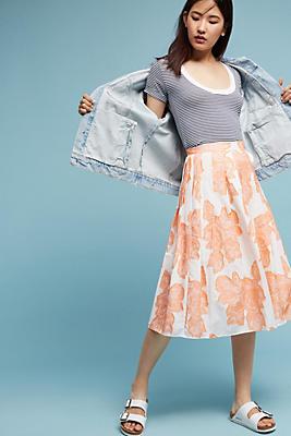 Slide View: 1: Sunrise Floral Skirt