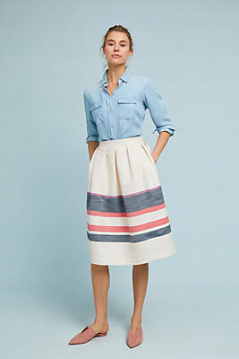 Slide View: 4: Varsity Striped Skirt