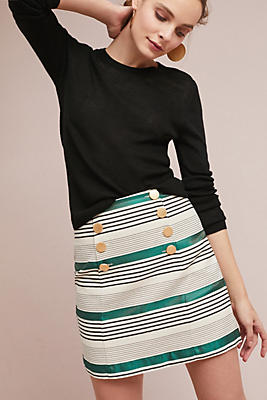 Slide View: 1: Rugby Striped Skirt