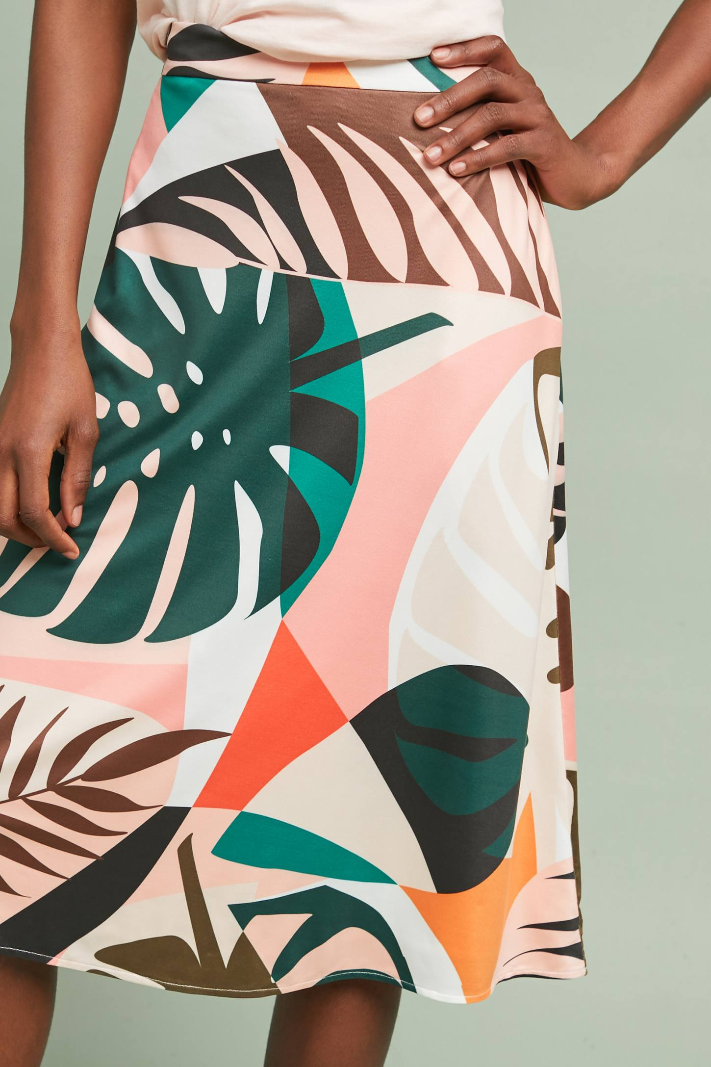 Tropical A-Line Skirt