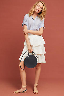 Slide View: 1: Tiered Eyelet Skirt