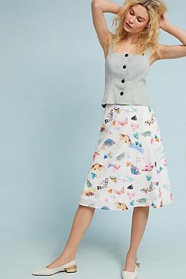 Slide View: 1: Butterfly Garden Skirt
