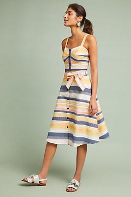 Slide View: 1: Baracoa Striped Skirt