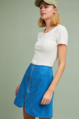 Slide View: 1: Retro Lace Mini Skirt