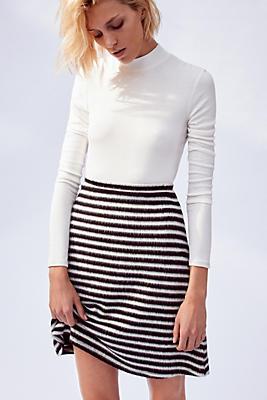 mod striped knit skirt