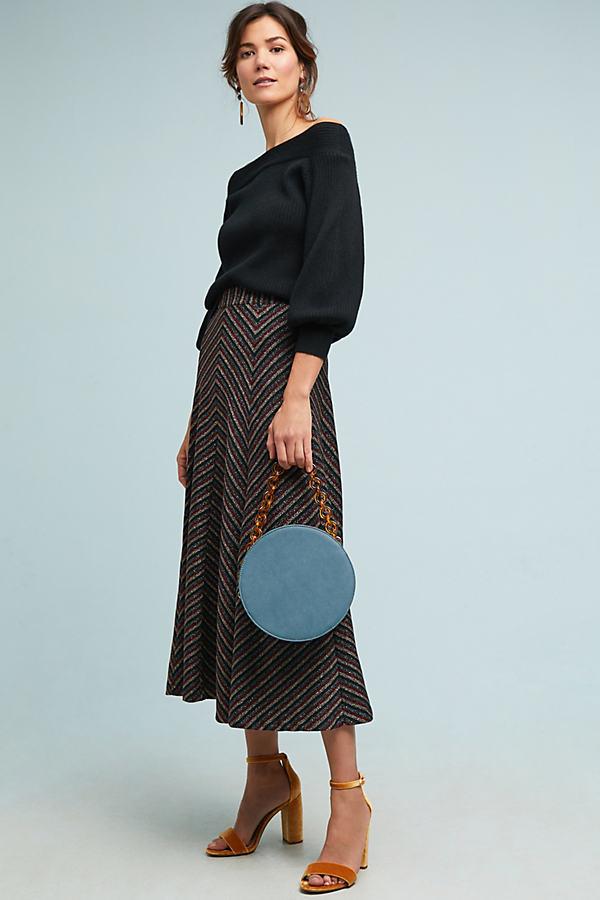 Chevron Shine Skirt - Assorted, Size S