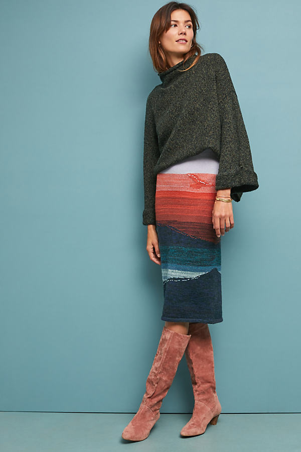 Scenic Sweater Skirt - Assorted, Size Xs