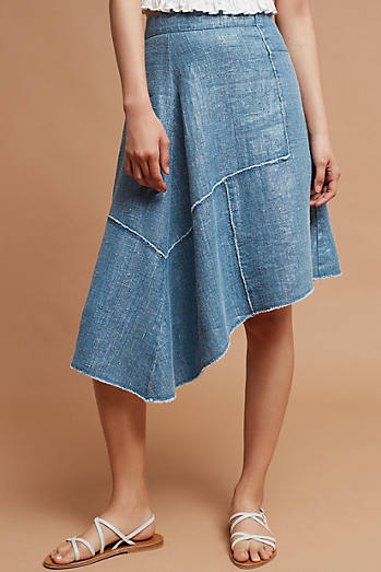 Frayed Linen Skirt