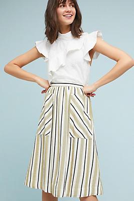 Slide View: 1: Luria Striped Skirt
