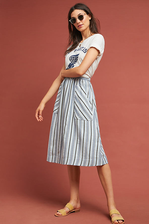 Luria Striped Skirt - Assorted, Size M