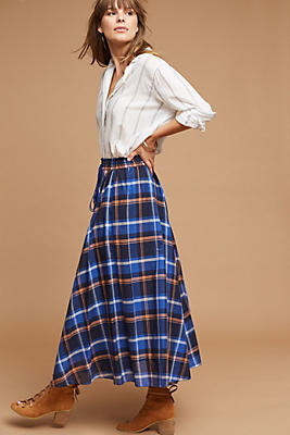 Slide View: 1: Cayden Plaid Skirt