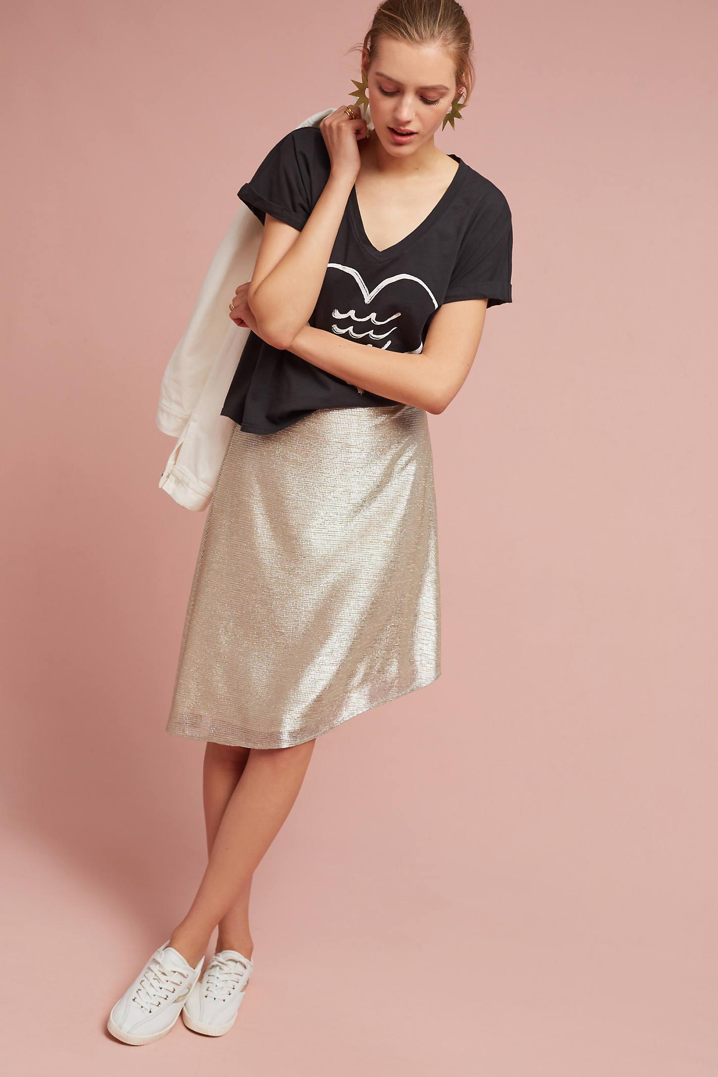 Marcia Metallic Skirt
