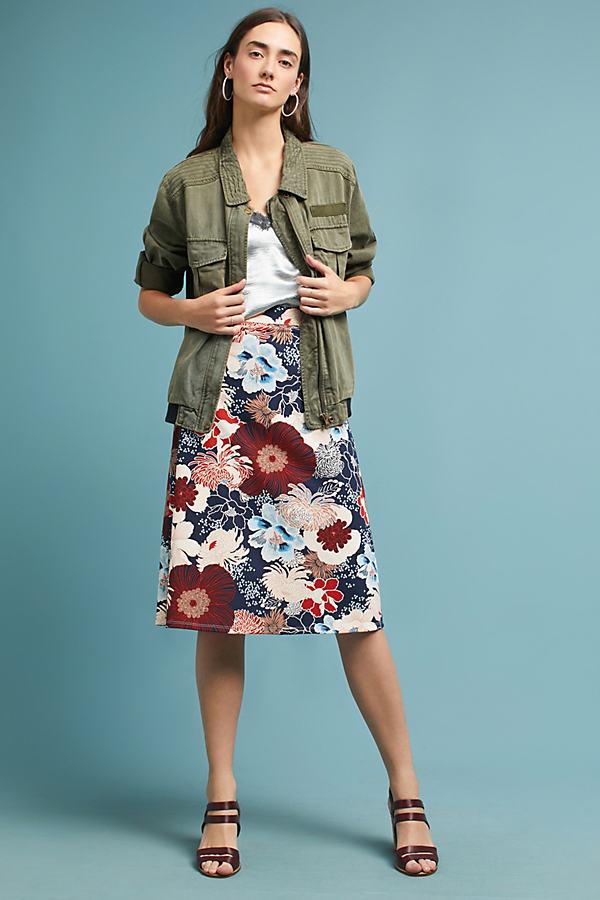 Turia Pencil Skirt - Navy, Size S