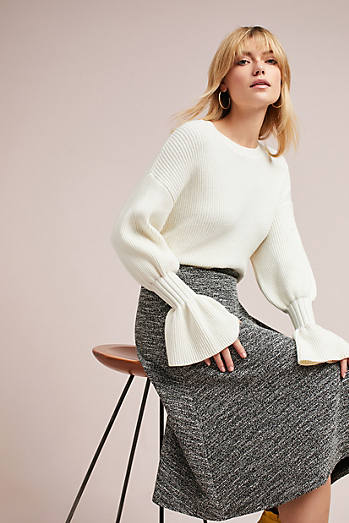 Marce Textured Knit Skirt