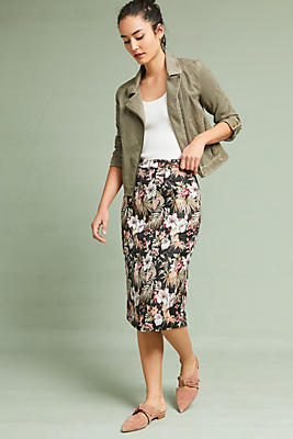 Slide View: 1: Jardin Jacquard Pencil Skirt