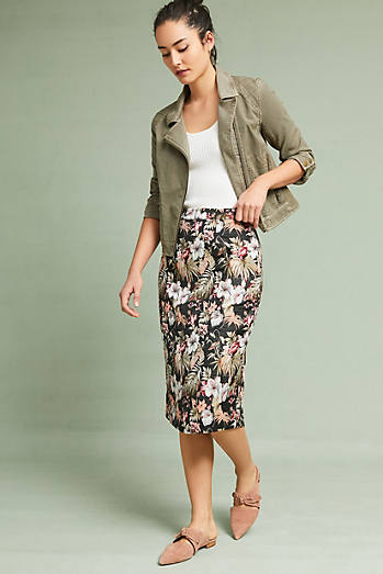 Jardin Jacquard Pencil Skirt