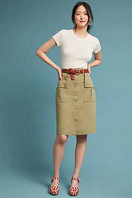 Slide View: 1: Utility Pencil Skirt