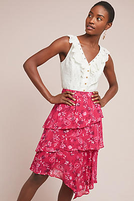 Slide View: 1: Claire Floral Skirt