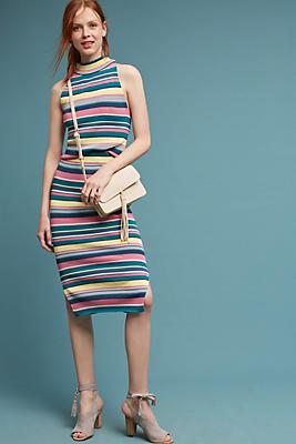 Slide View: 1: Iana Striped Skirt