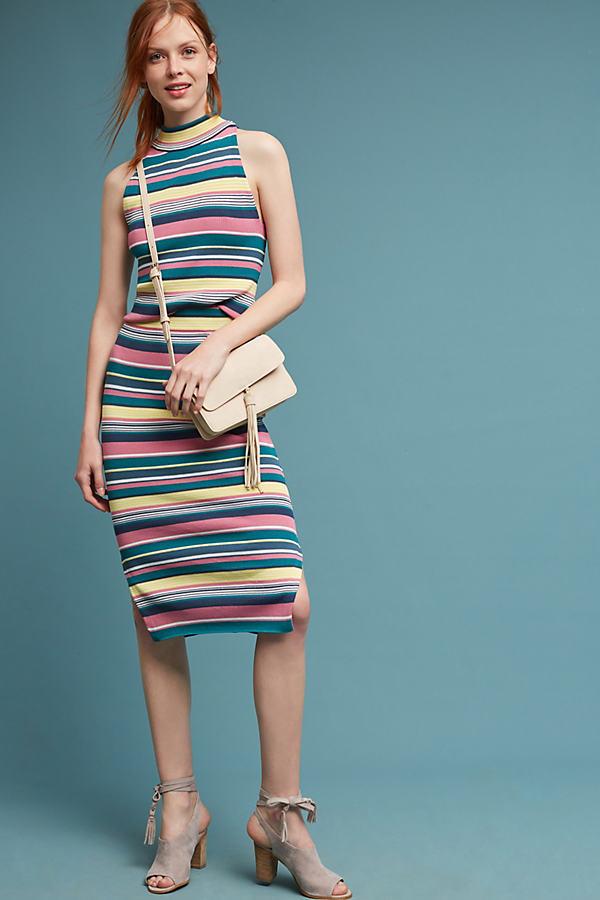 Iana Striped Skirt - Red Motif, Size M
