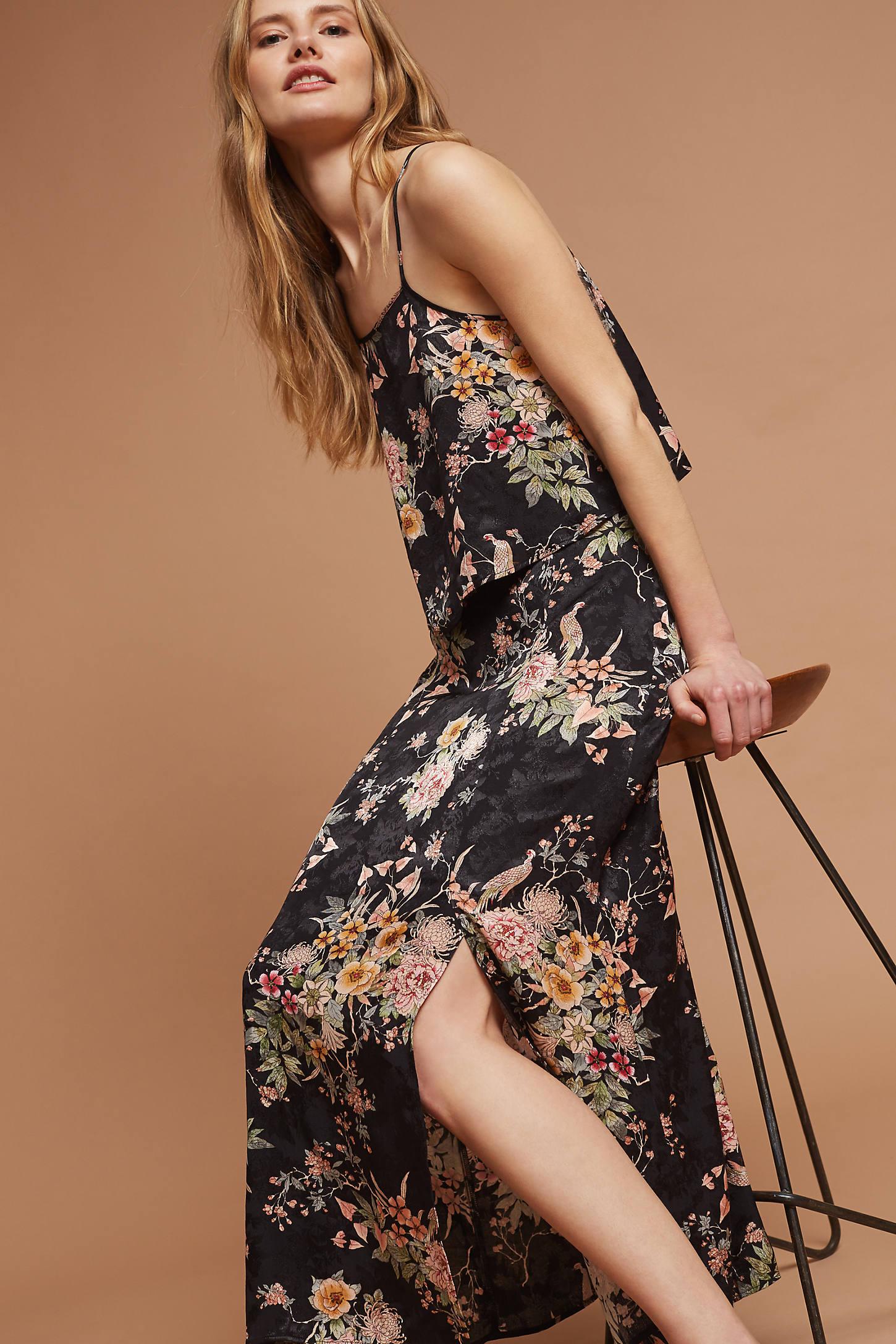 Blooming Flora Midi Skirt