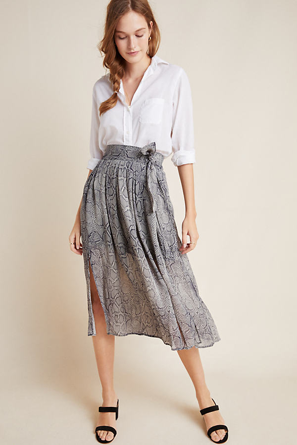 Annette Tied Midi Skirt - Assorted, Size Uk 16