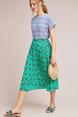 Slide View: 1: Jade Pleated Skirt