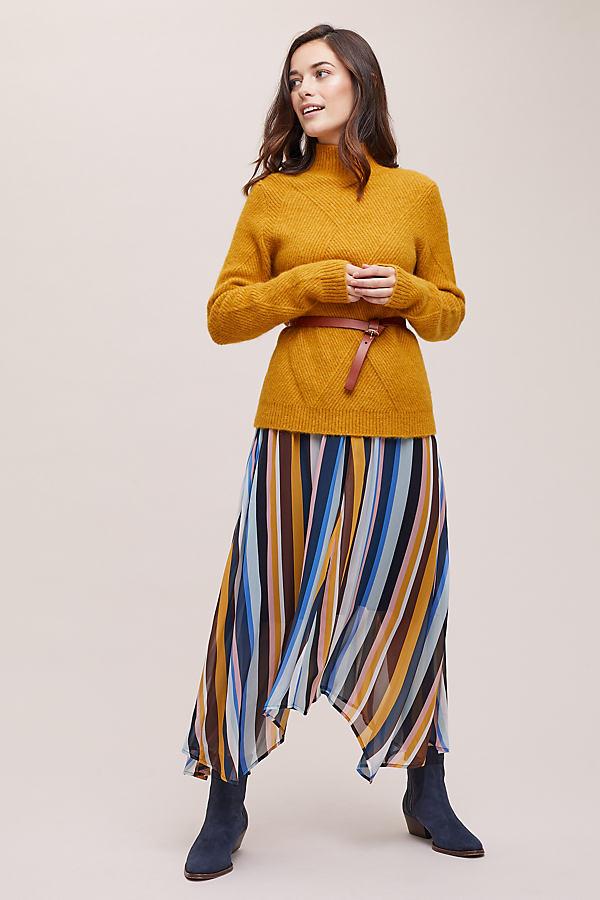 Tina Striped-Asymmetric Skirt - Assorted, Size Uk 6