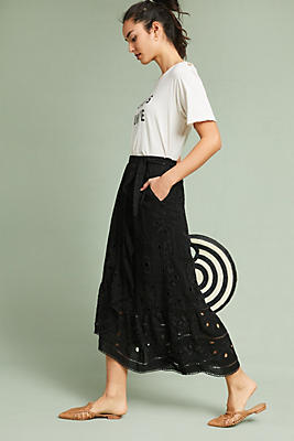 Slide View: 1: Eyelet Wrap Skirt