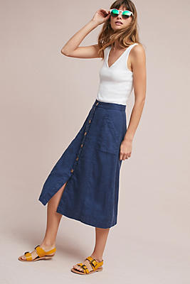 Slide View: 1: Riverine Midi Skirt