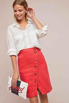 Slide View: 1: Buttondown Pencil Skirt