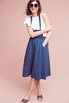 Slide View: 1: Linen Jumper Skirt