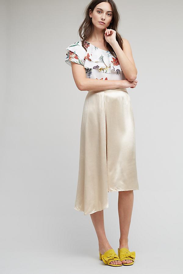 Madison Metallic Skirt, Gold - Gold, Size Uk12