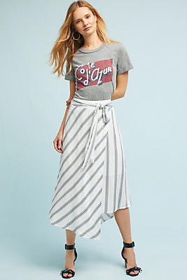 Slide View: 1: Aiden Striped Skirt