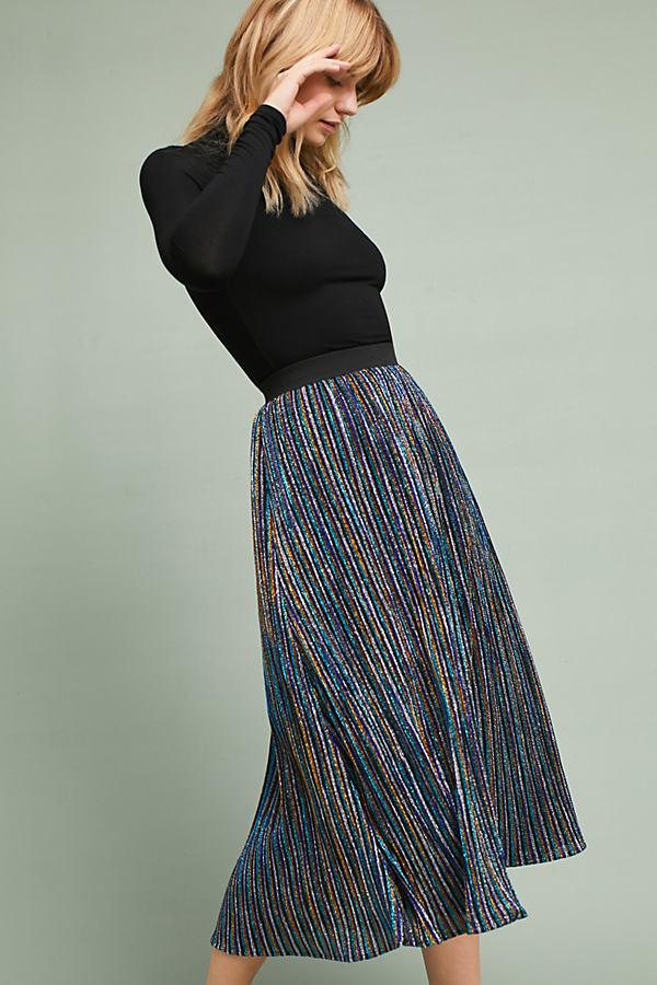 Jaquetta Sparkle Knit Midi Skirt - A/s, Size Uk 6