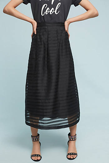 Daniella Midi Skirt, Black