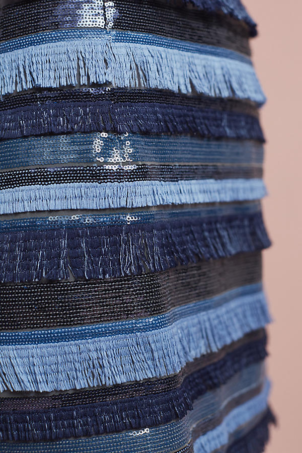 Slide View: 3: Waves Fringed Mini Skirt