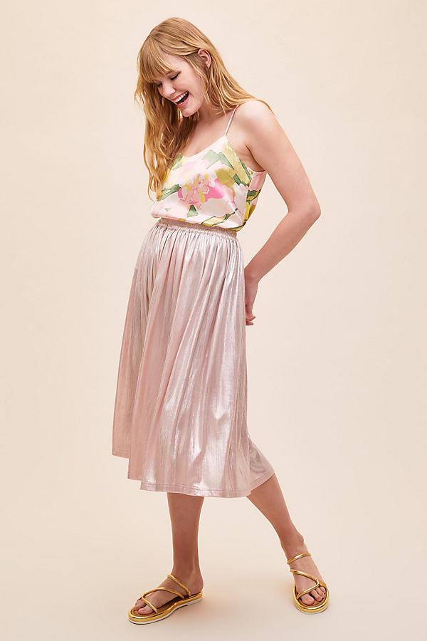 Lolly's Laundry Metallic Midi Skirt