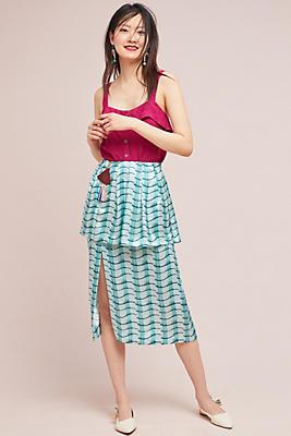 Slide View: 1: Silk Waves Skirt