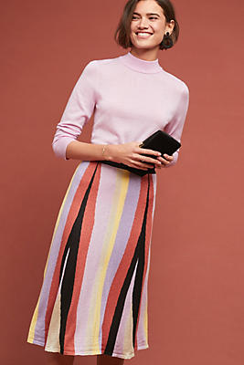 Slide View: 1: Striped Knit Skirt