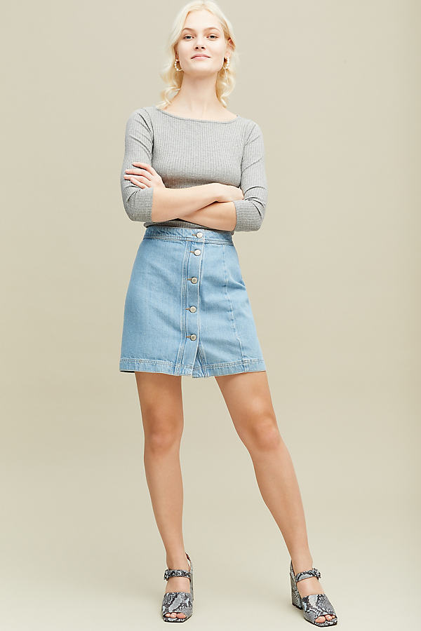 Cassandra Denim Skirt - Blue, Size L