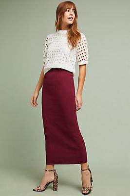 Slide View: 1: Alannah Textured Skirt