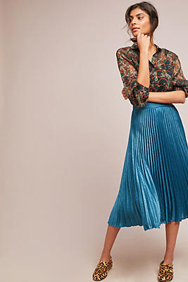 Slide View: 1: Coppelia Pleated Shine Skirt